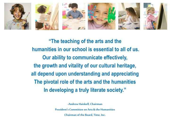 """The teaching of the arts and the"