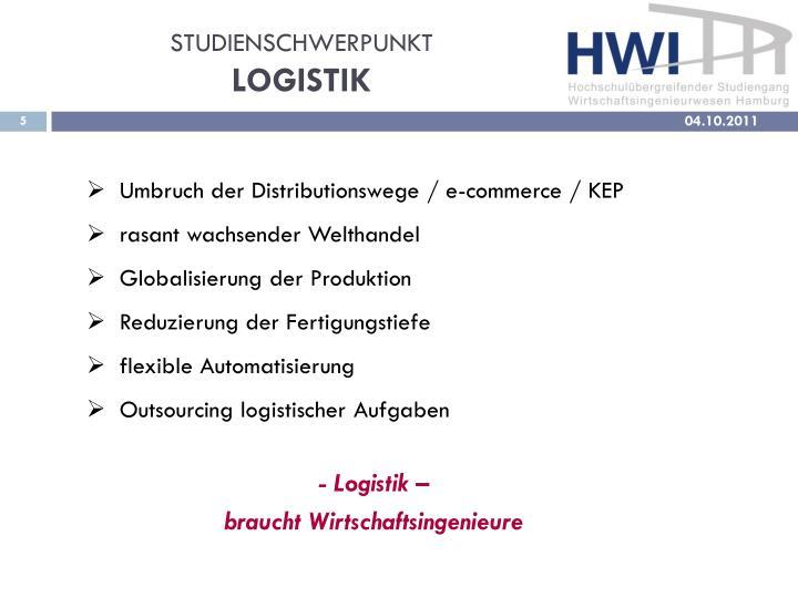 STUDIENSCHWERPUNKT