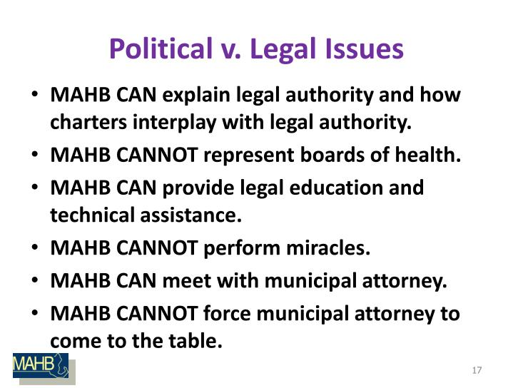 Political v. Legal Issues