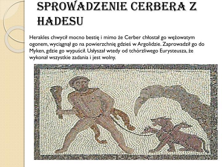 SprowadzenieCerberaz Hadesu