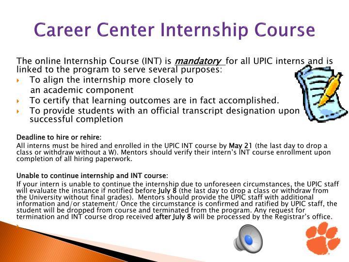 Career Center Internship Course
