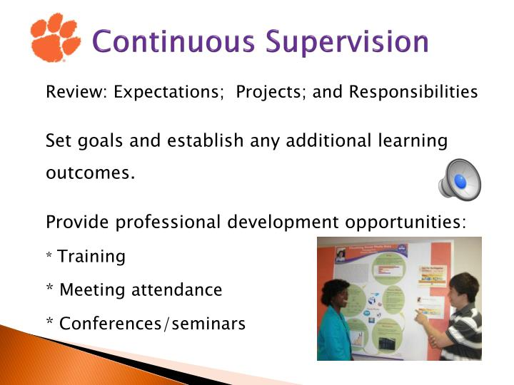 Continuous Supervision