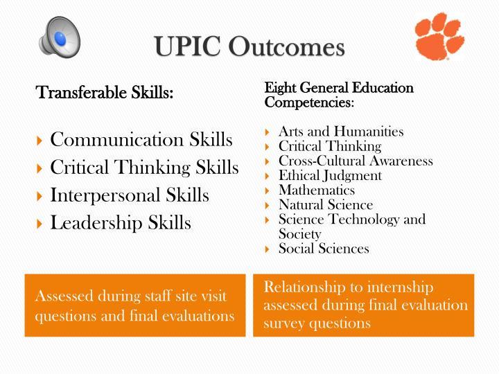 UPIC Outcomes