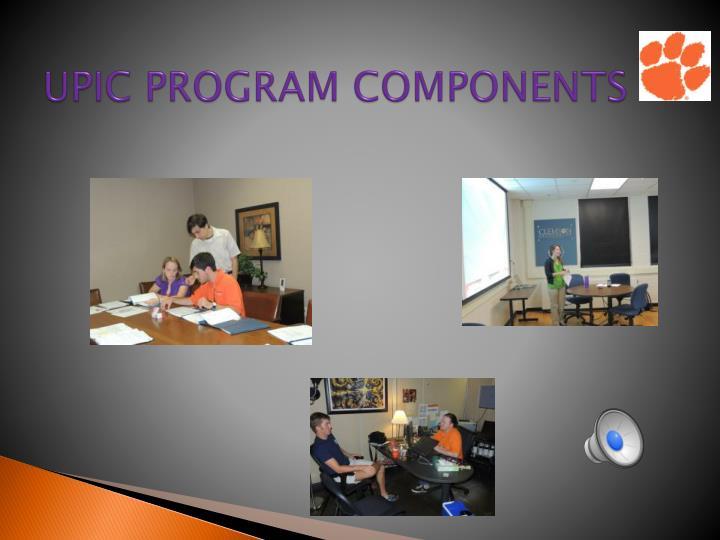UPIC PROGRAM COMPONENTS