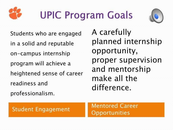 UPIC Program Goals