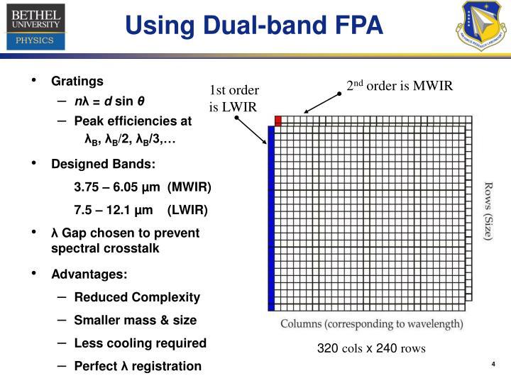 Using Dual-band FPA