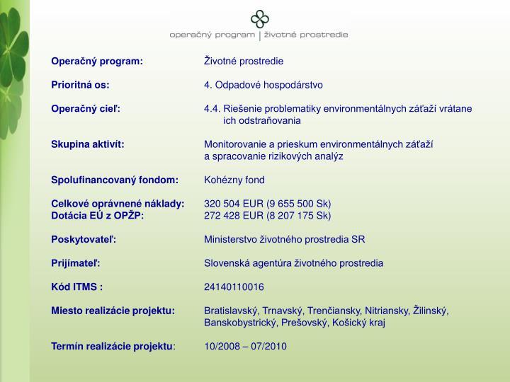 Operan program: