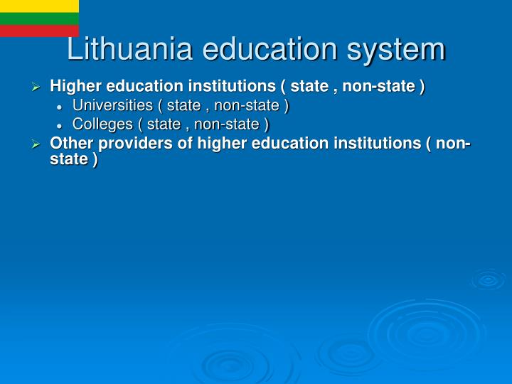 Lithuania education system
