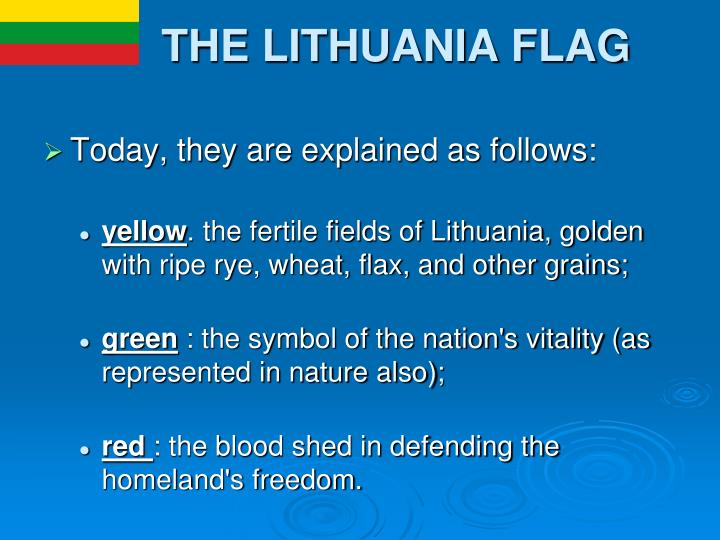 THE LITHUANIA FLAG