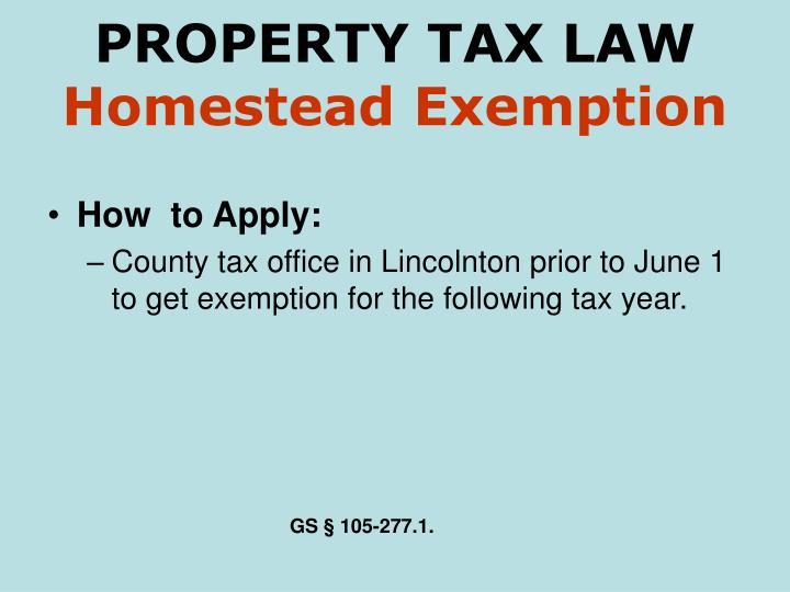 Homestead Property Tax Exemption Nc