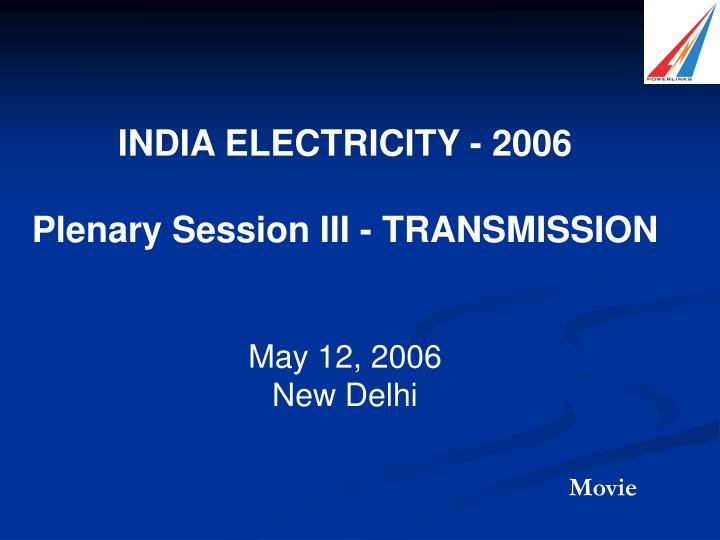 INDIA ELECTRICITY - 2006