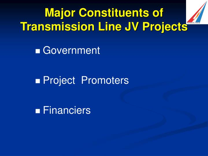 Major Constituents of Transmission Line JV Projects