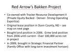 red arrow s bakken project