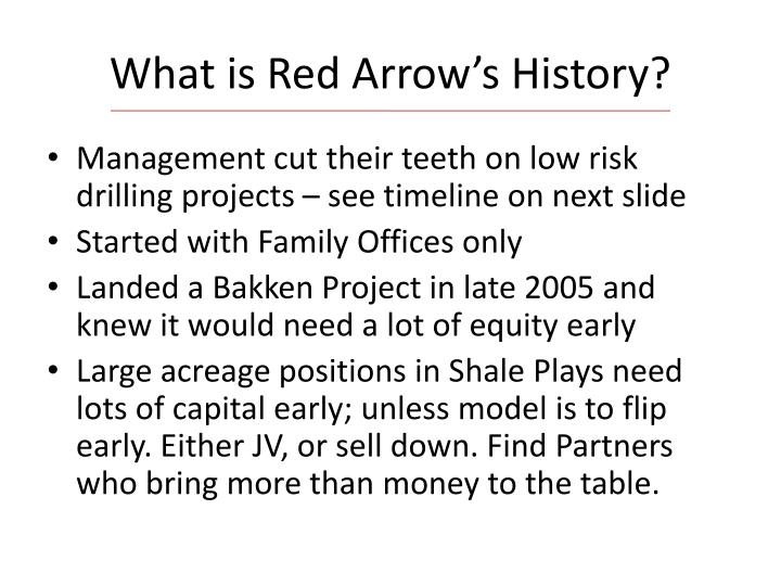 What is Red Arrow's History?