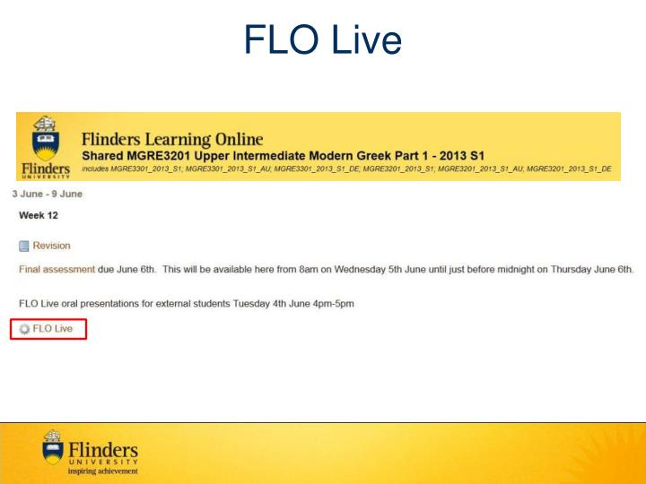 FLO Live