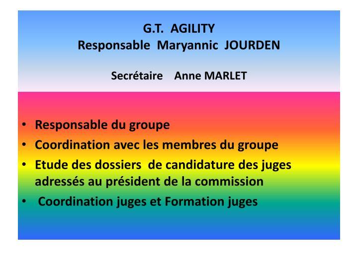 G.T.  AGILITY