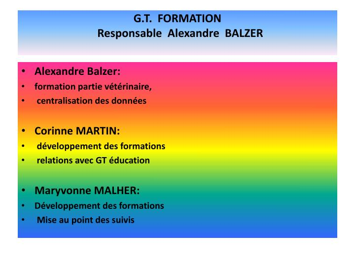 G.T.  FORMATION