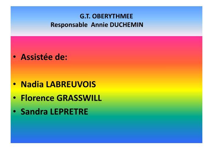 G.T. OBERYTHMEE