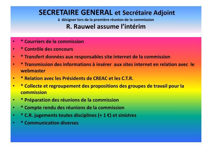 SECRETAIRE GENERAL