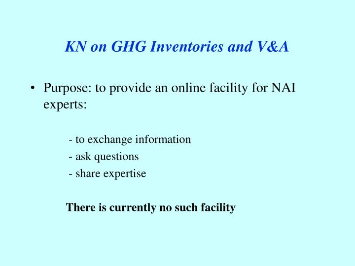 KN on GHG Inventories and V&A