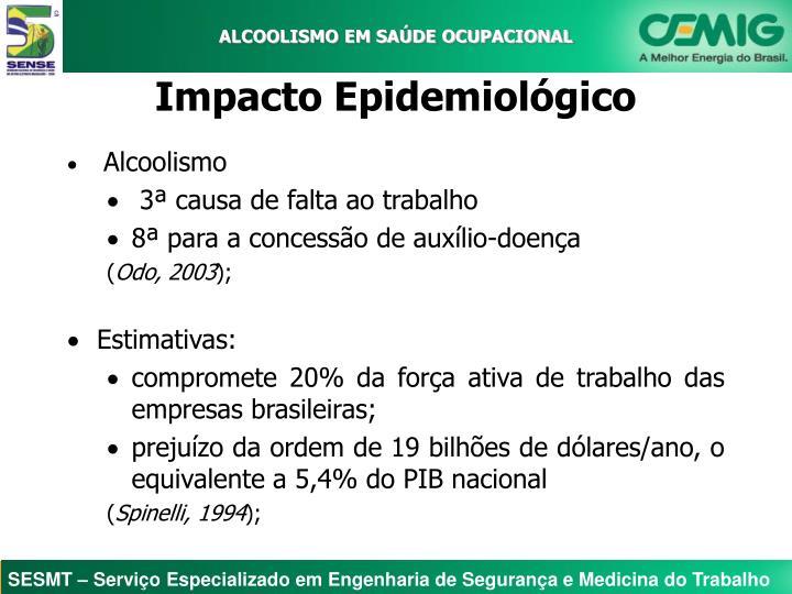 ALCOOLISMO EM SAÚDE OCUPACIONAL