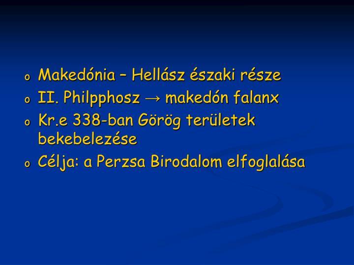 Makedónia – Hellász északi része