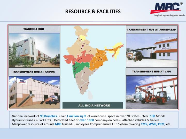 RESOURCE & FACILITIES
