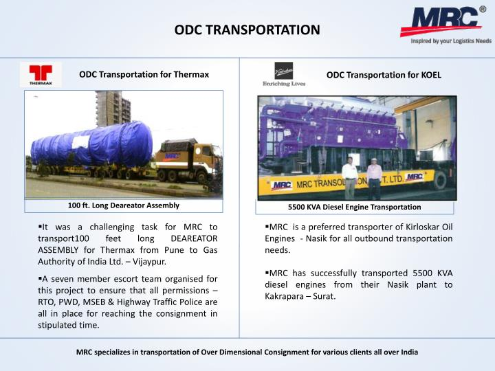 ODC TRANSPORTATION