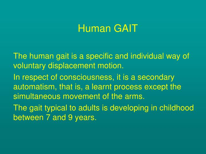 Human GAIT