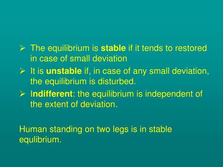 The equilibrium is