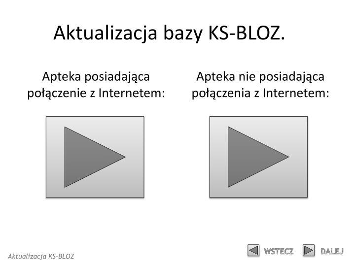 Aktualizacja bazy KS-BLOZ.