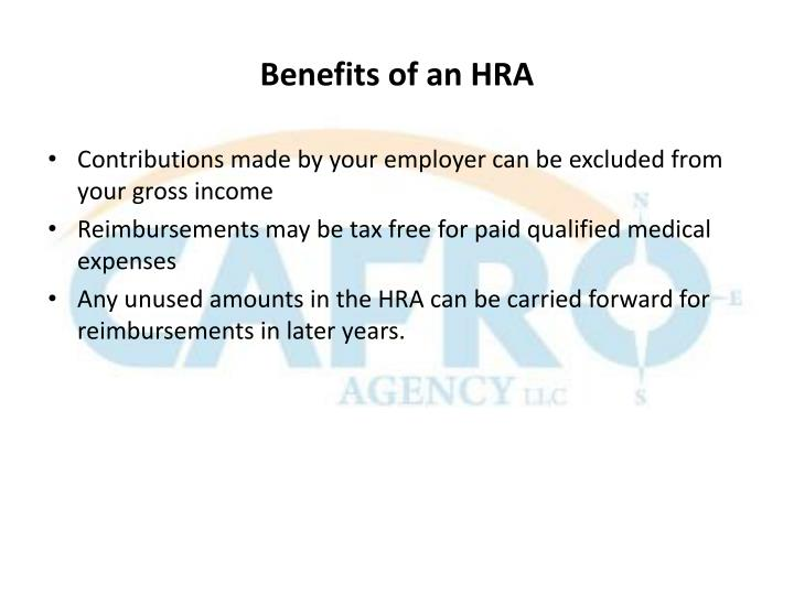 Benefits of an HRA