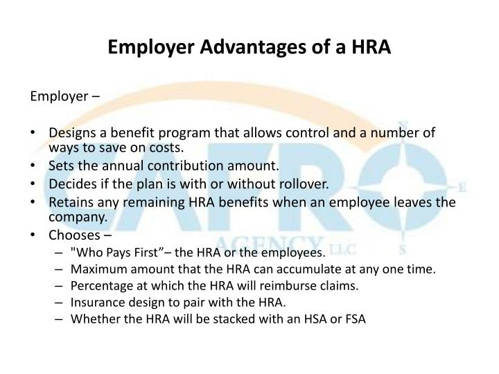 Employer Advantages of a HRA