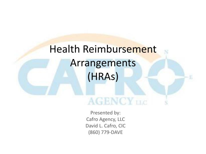 Health reimbursement arrangements hras