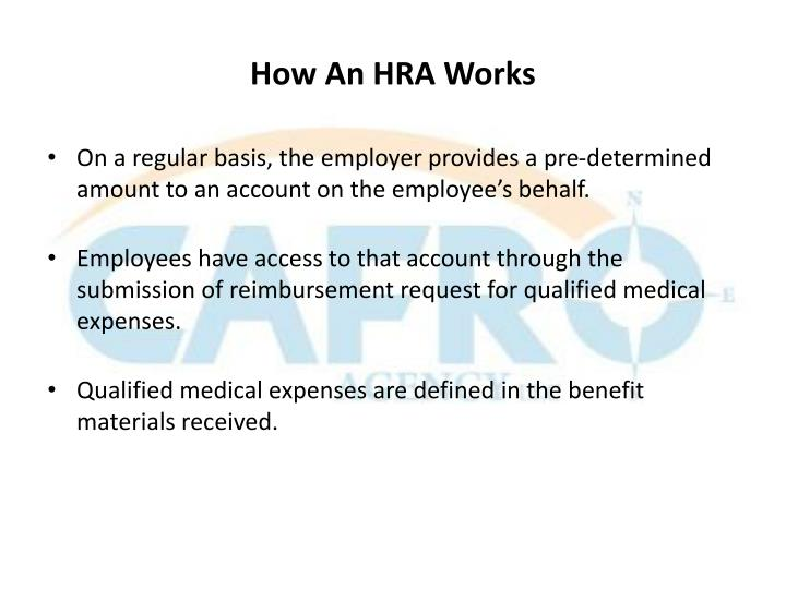 How An HRA Works