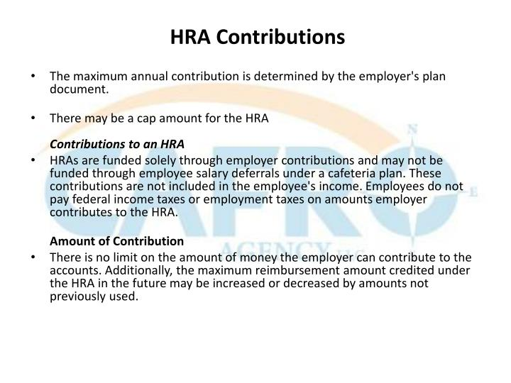HRA Contributions