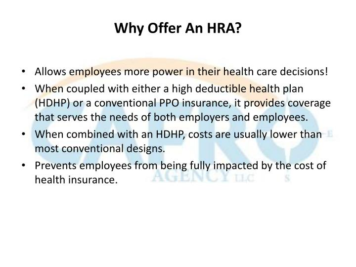 Why Offer An HRA?