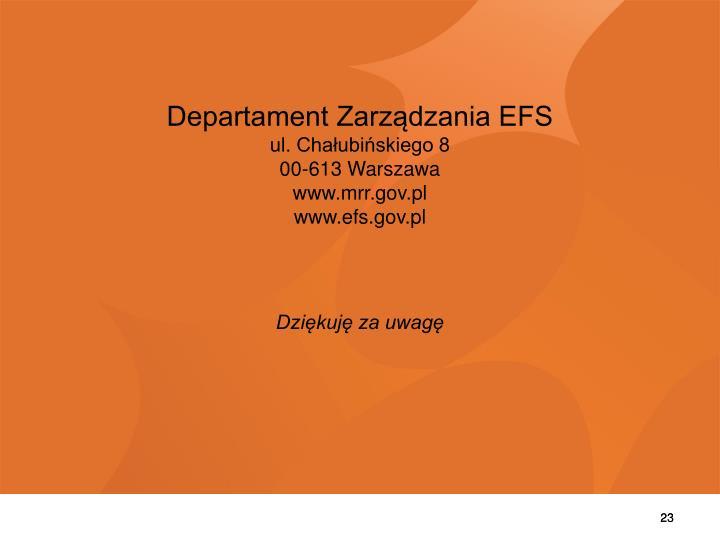 Departament Zarządzania EFS