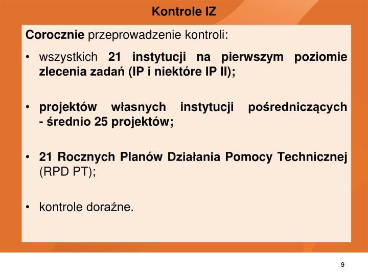 Kontrole IZ