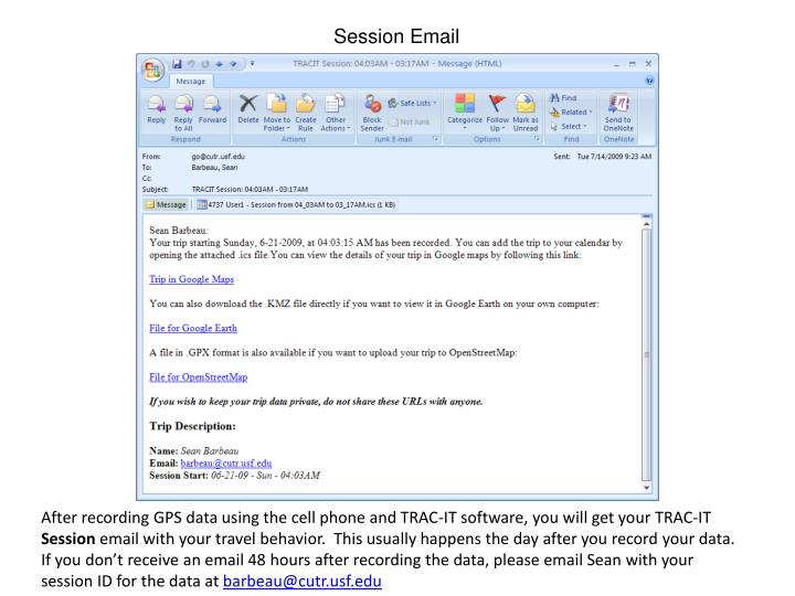 Session Email