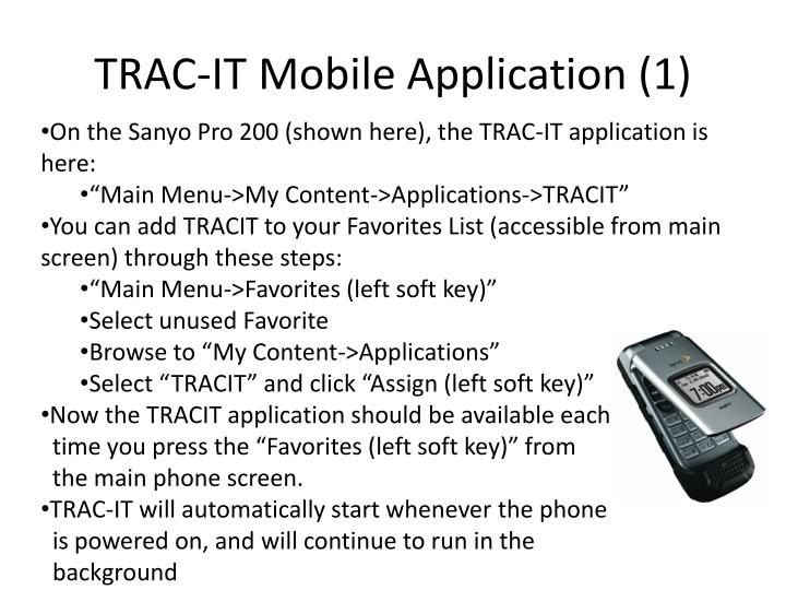 Trac it mobile application 1