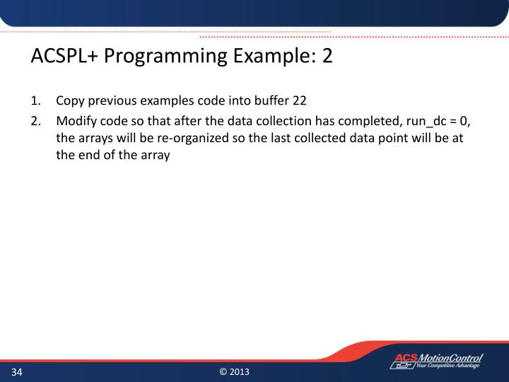 ACSPL+ Programming Example: 2