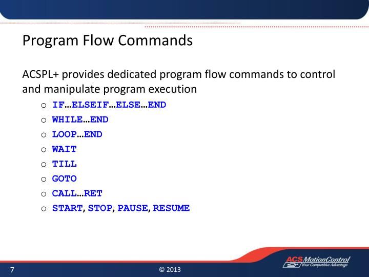 Program Flow Commands