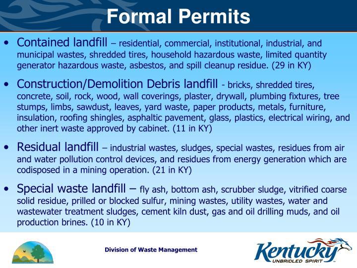 Formal Permits