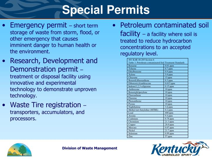 Special Permits