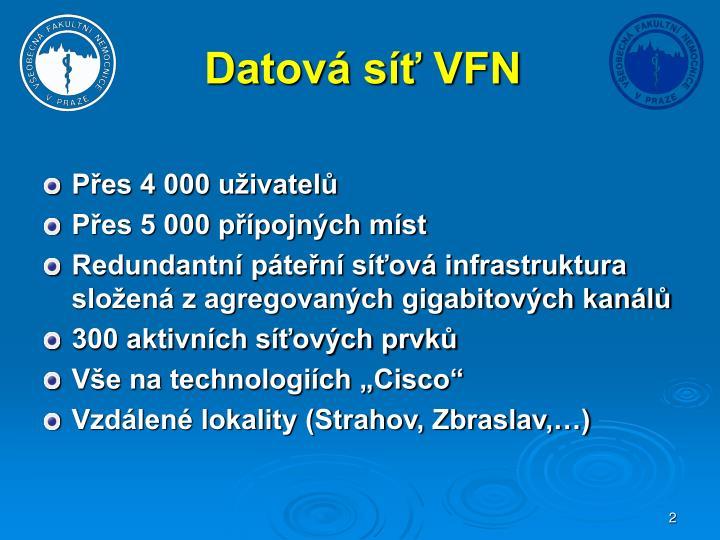 Datová síť VFN