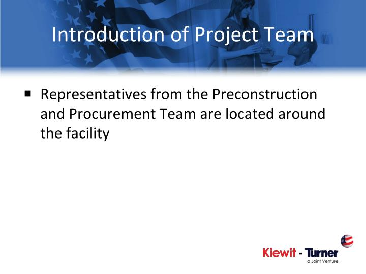 Introduction of Project Team