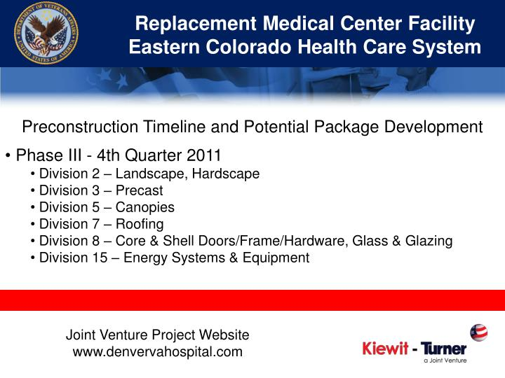 Replacement Medical Center Facility