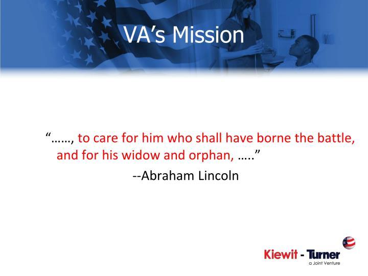 VA's Mission