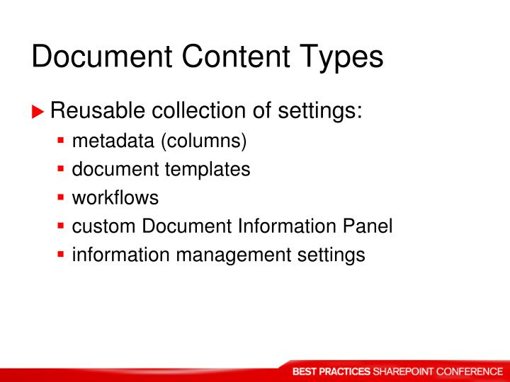 Document Content Types